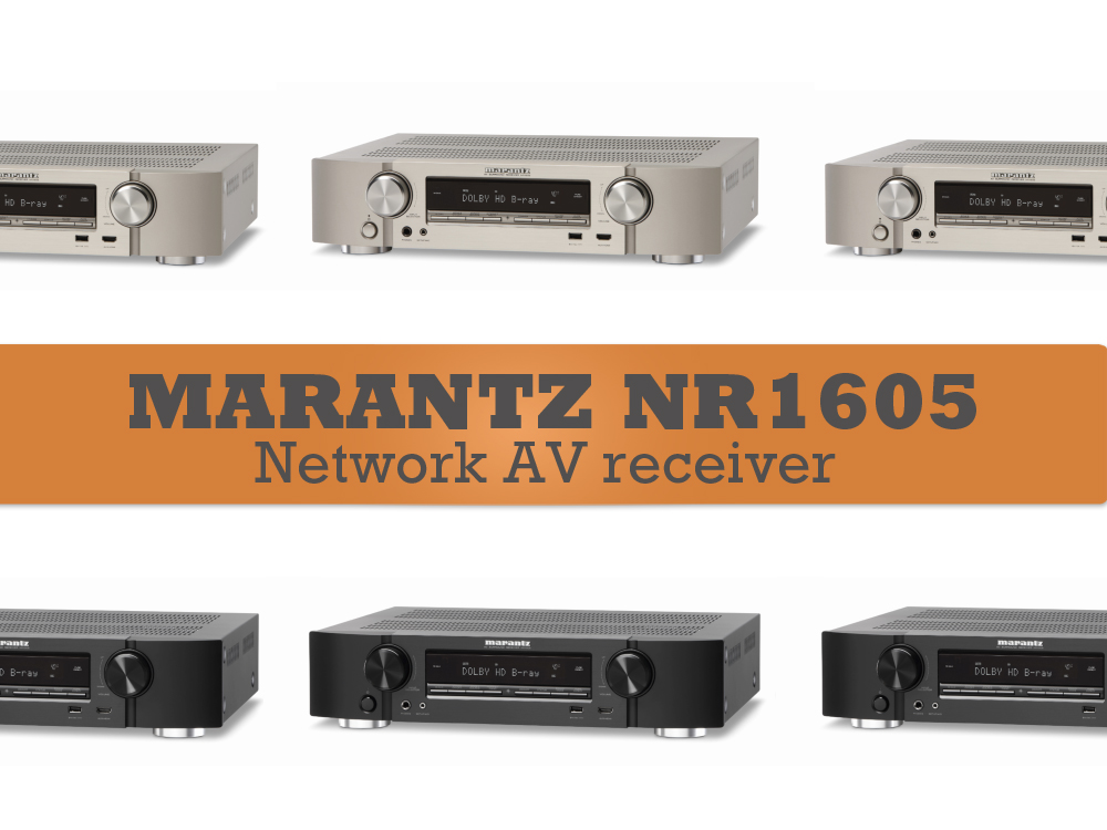 Marantz NR1605 - WiFi & Bluetooth AV receiver