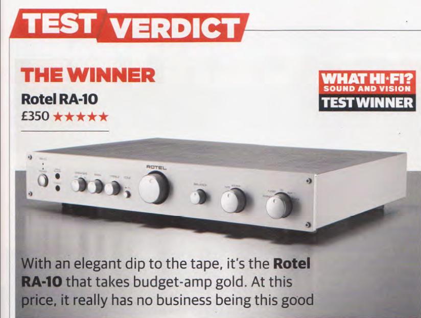 WHAT HIFI - Rotel RA-10 je najbolje pojačalo u klasi!