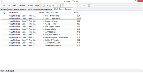 Upnp Browser Music